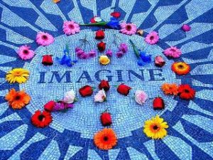Imagine with flowers