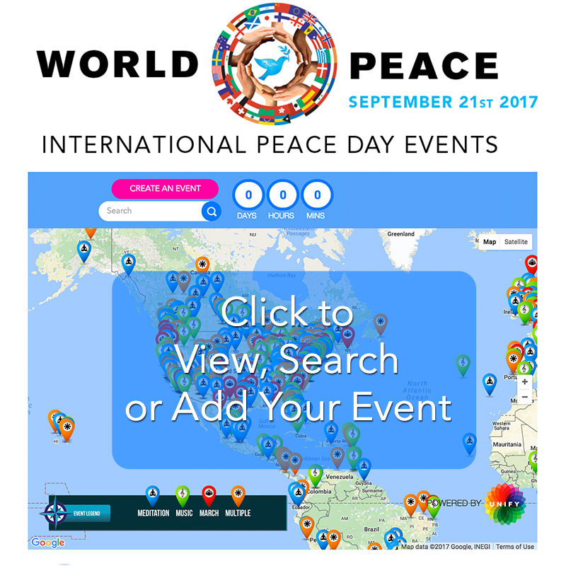 international day of peace we invite you to create a public or private activity related to peace sp the word about peace day and or attend an event in your community learn more